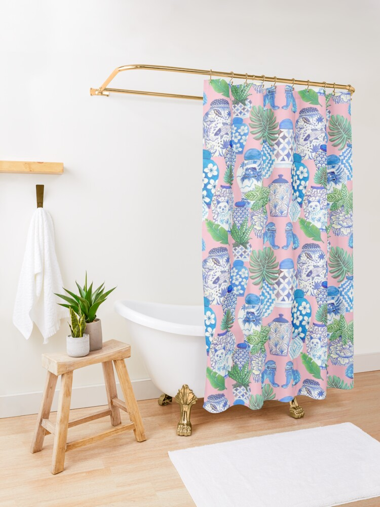 Alternate view of chinese ginger jars Shower Curtain