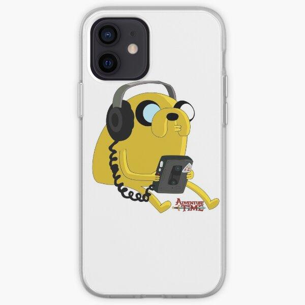Jake Adventure Time listen music iPhone Soft Case