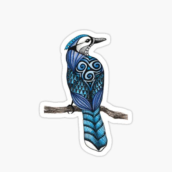 Blue Jay Totem Sticker