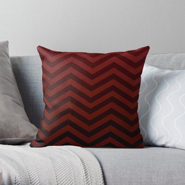 Deep Red Ominous Path Throw Pillow