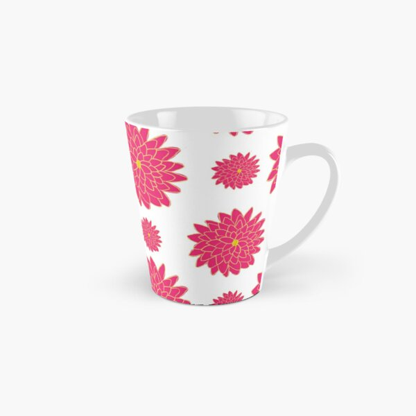 Pink and Yellow Dahlias in Three Sizes Pattern Tall Mug