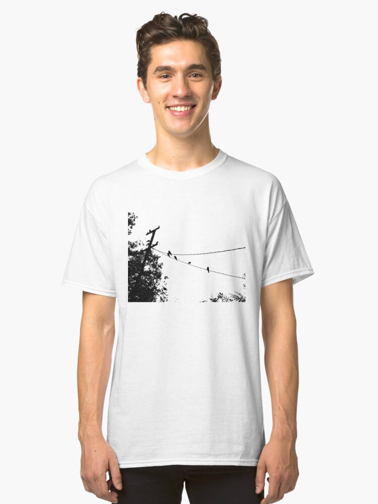 Alternate view of Crows on a wire Classic T-Shirt