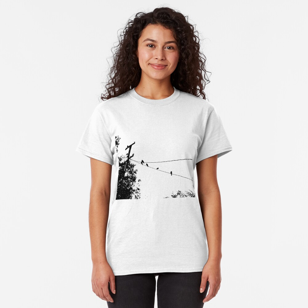 Crows on a wire Classic T-Shirt