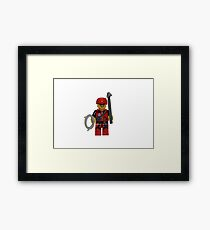 LEGO Climber with Ice Axe and Rope Framed Print