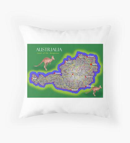Austrialia Throw Pillow