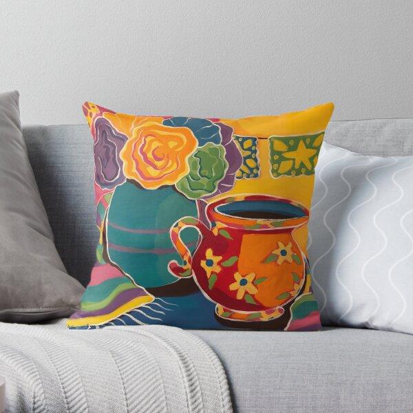Las Flores dePapel Throw Pillow