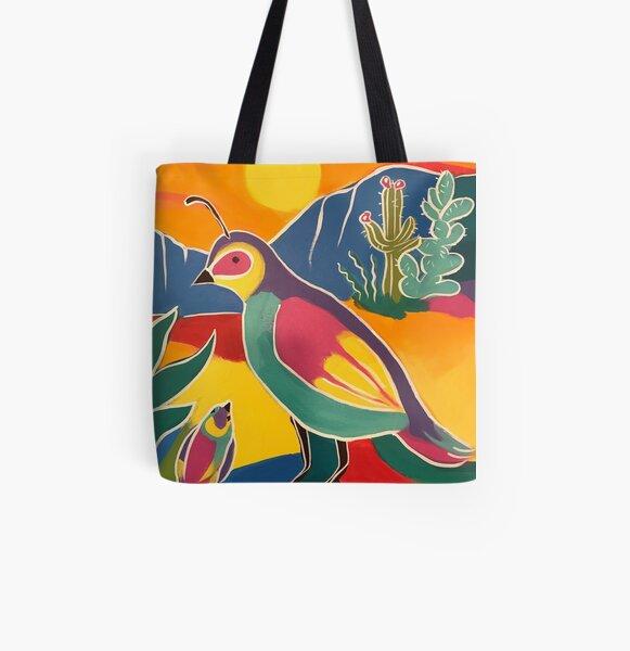Mama Quail All Over Print Tote Bag