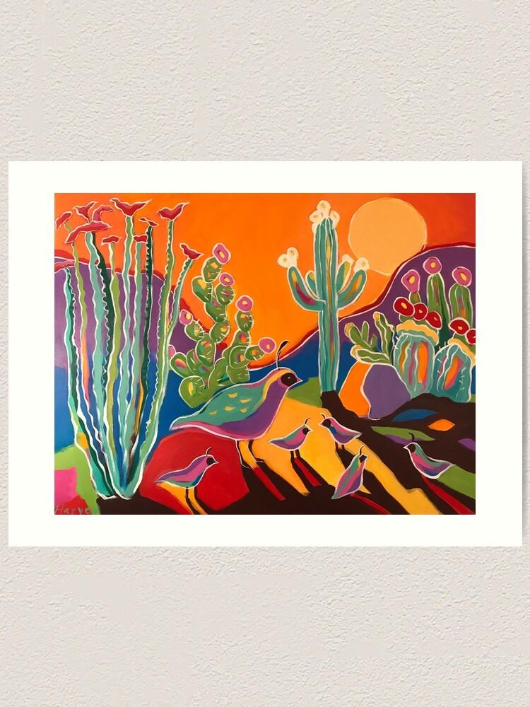 Alternate view of Ocotillo Sunset Art Print