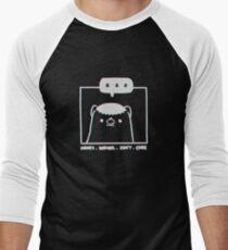 Honey Badger Don't Care - Monochrome 3D Baseball ¾ Sleeve T-Shirt