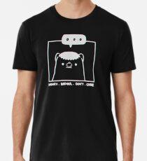 Honey Badger Don't Care - Monochrome 3D Premium T-Shirt