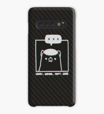 Honey Badger Don't Care - Monochrome 3D Case/Skin for Samsung Galaxy