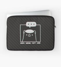 Honey Badger Don't Care - Monochrome 3D Laptop Sleeve