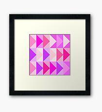pink vectors Framed Print