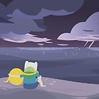 storm watching ADVENTURE TIME by Ashley Castleton