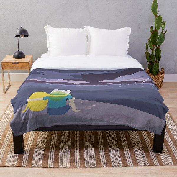 Storm Watching (Adventure Time) Throw Blanket