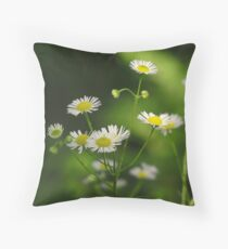 Woodland Wildflowers Throw Pillow