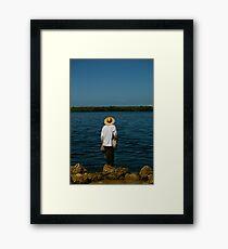 Net fishing Framed Print