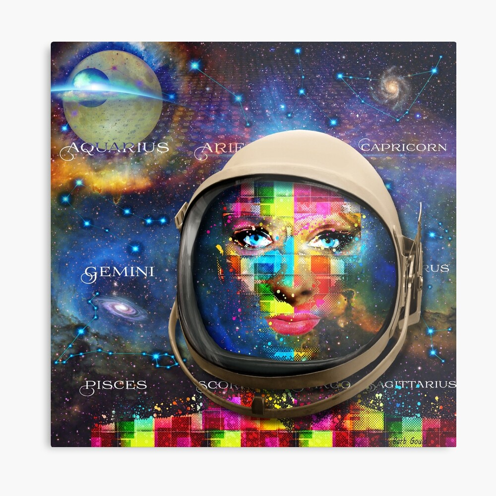 'THE FACE OF THE UNIVERSE' Metal Print