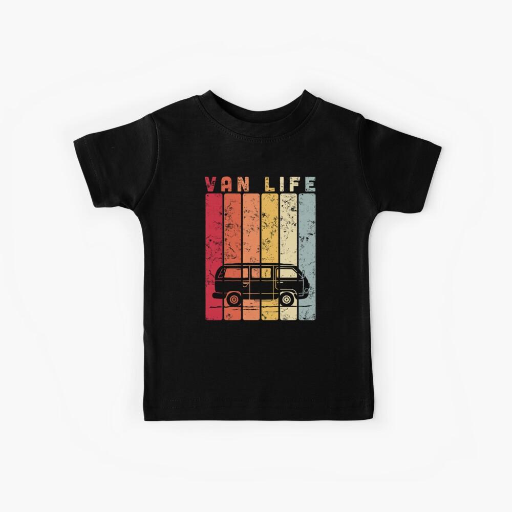 Reisemobil - Van Life Vintage Stripes Kinder T-Shirt
