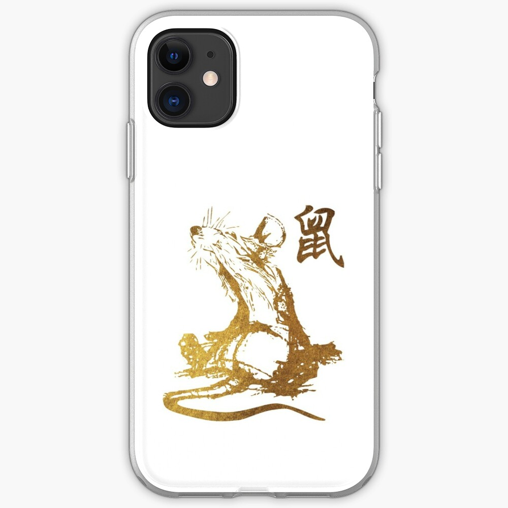 Compatible for iPhone XR Cases 2020 Happy Chinese New Year of The Rat Fun Mouse Zodiac Anti Bumps Scratches