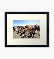 Grimpeurs Andy Schleck & Alberto Contador - 2009 Tour de France Framed Print