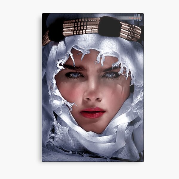 Brooke Shields 1983 Adventures in the Sahara, colorized Metal Print