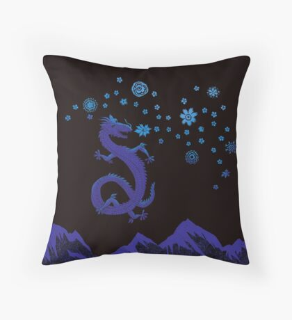 Northern Lights Dragon Throw Pillow