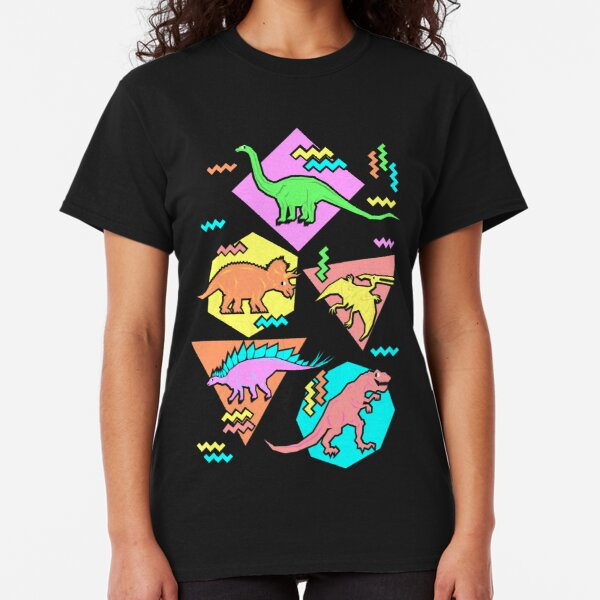 Nineties Dinosaurs Pattern Classic T-Shirt