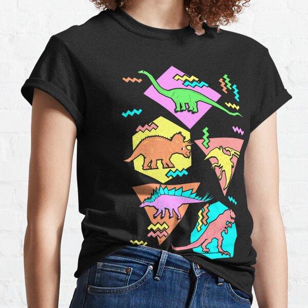 Modèle des dinosaures des années 90 T-shirt classique
