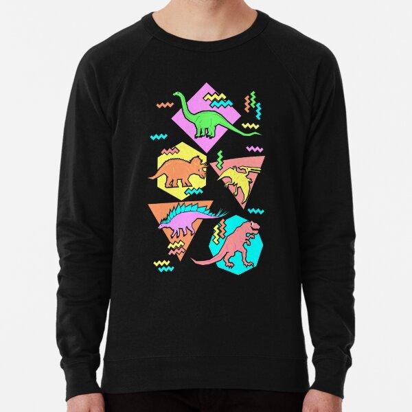 Nineties Dinosaurs Pattern Lightweight Sweatshirt