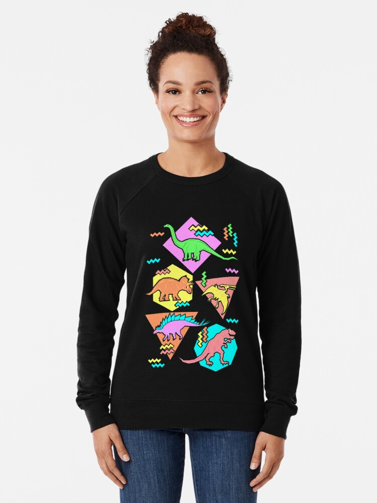 Alternate view of Nineties Dinosaurs Pattern Lightweight Sweatshirt