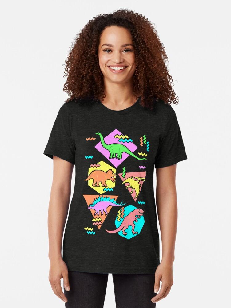 Alternative Ansicht von Neunziger Jahre Dinosaurier Muster Vintage T-Shirt