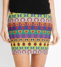 Jojo's Bizarre Adventure - Part Symbols Colorful Pattern Mini Skirt
