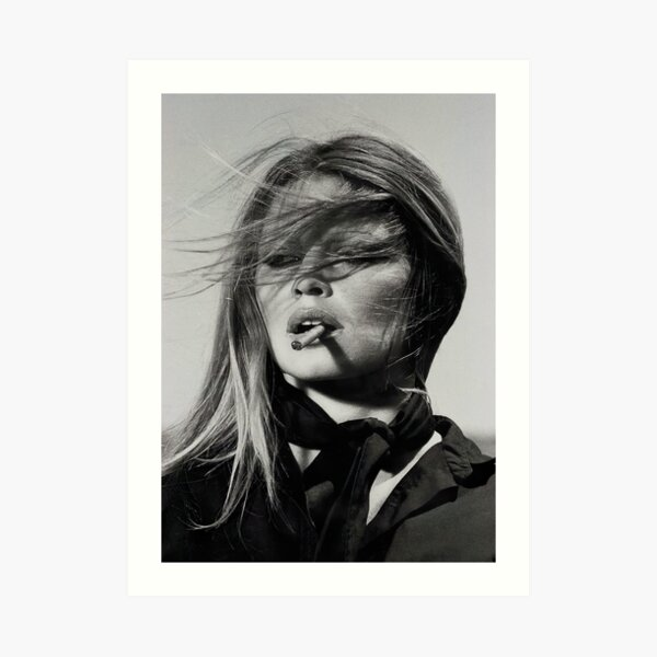 Brigitte Bardot Smoking Art Print