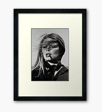 Brigitte Bardot Smoking Framed Print