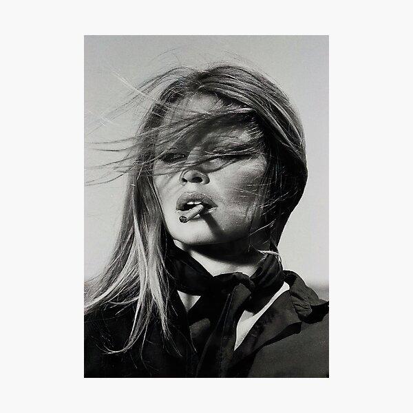 Brigitte Bardot Smoking Photographic Print