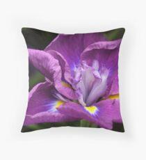 """Japanese Iris ..."" Throw Pillow"