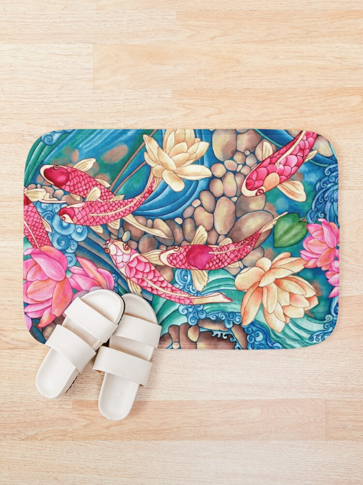 Alternate view of Koi Pond Bath Mat