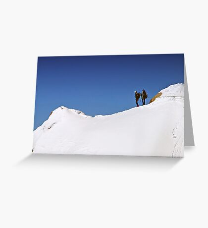 Two Climbers Greeting Card