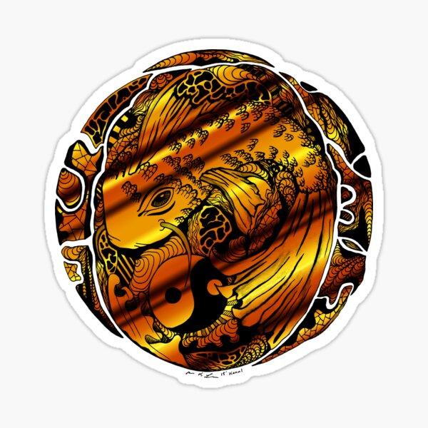 Koi of Balance Gold Sticker