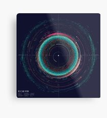An Asteroid Map of the Solar System Metal Print