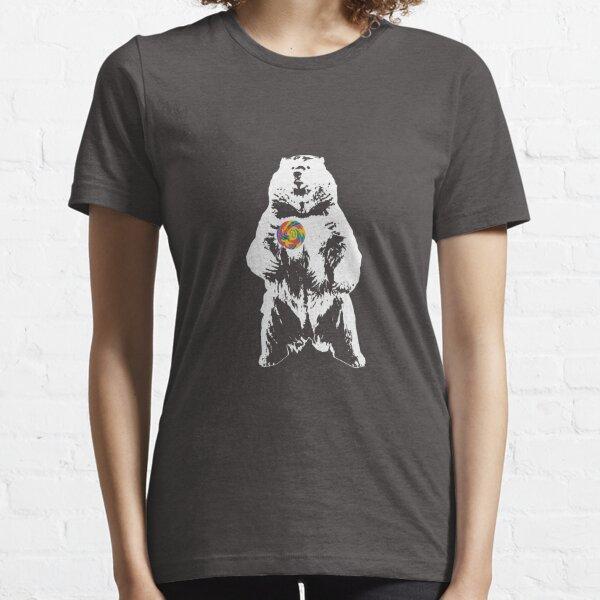 Bear Lollipop (White) Essential T-Shirt