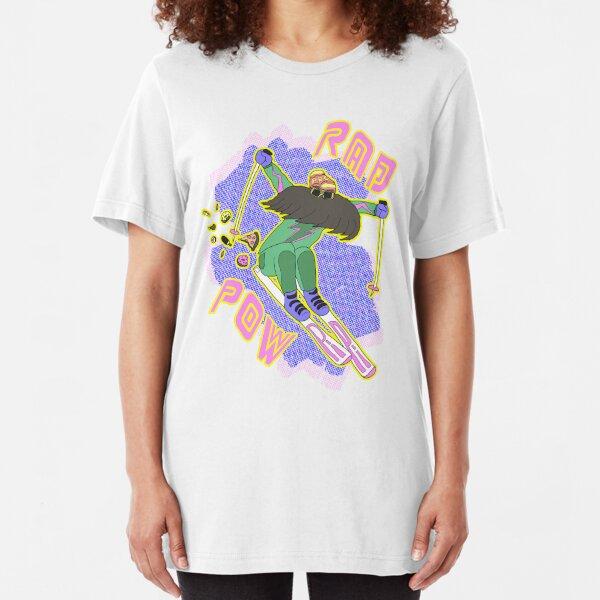 True '80s Ski Legend - Rad Pow Slim Fit T-Shirt