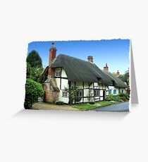 Quaint Thatched Cottage Greeting Card