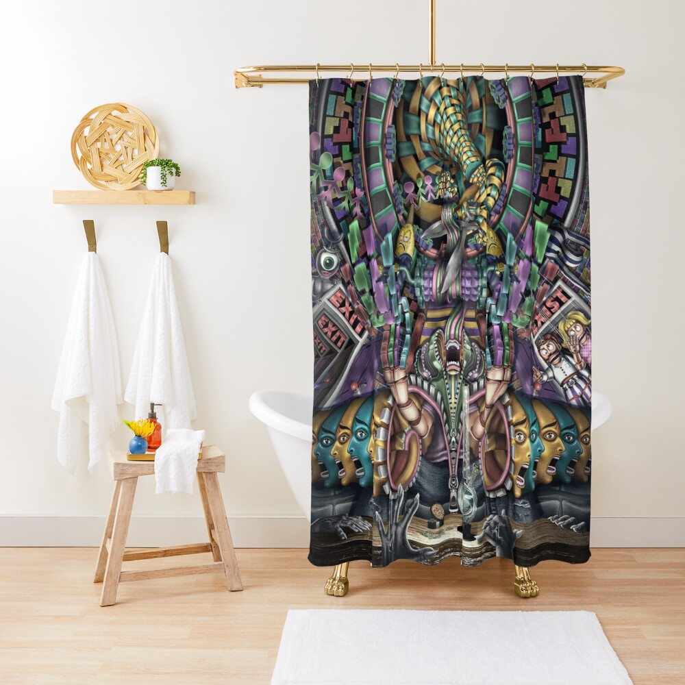 EXI(S)T Shower Curtain