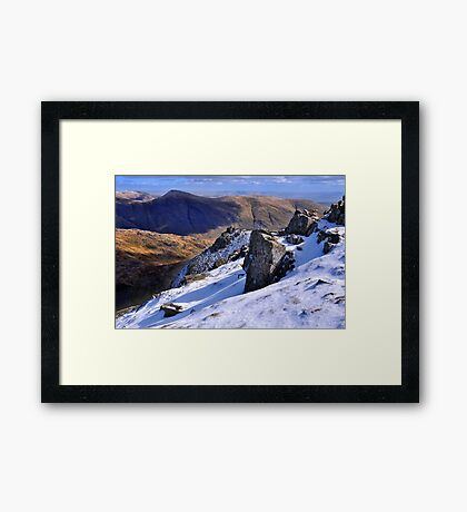 Ill Bell from Red Screes - The Lake District Framed Print