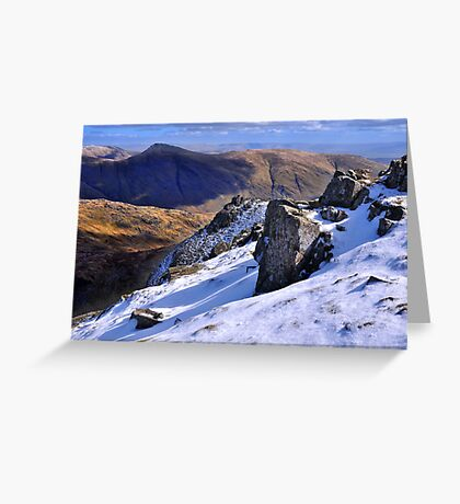 Ill Bell from Red Screes - The Lake District Greeting Card