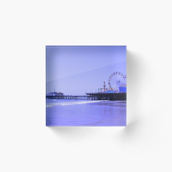 Purple Haze Santa Monica Pier Acrylic Block