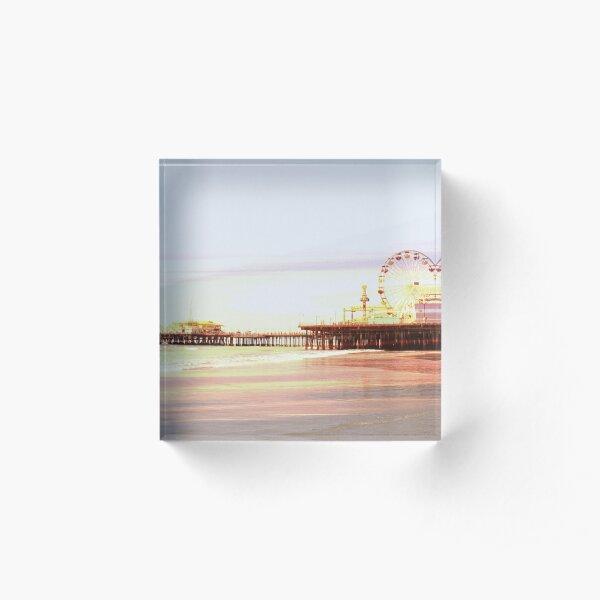 Santa Monica Pier Sunrise Acrylic Block