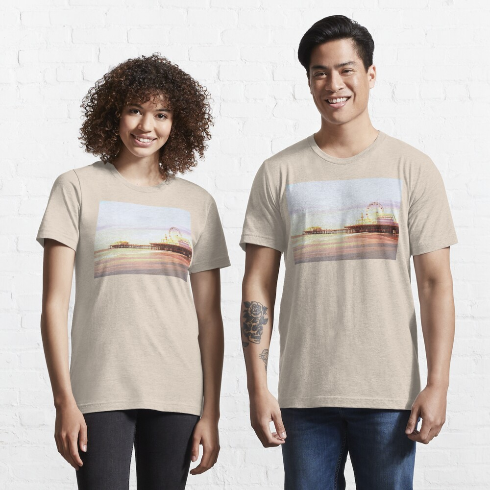 Santa Monica Pier Sunrise Essential T-Shirt